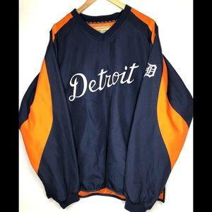 Men's XL Detroit Tigers pullover windbreaker MLB